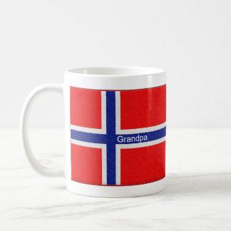 Norwegian Flag Personalized Grandpa Classic White Coffee Mug