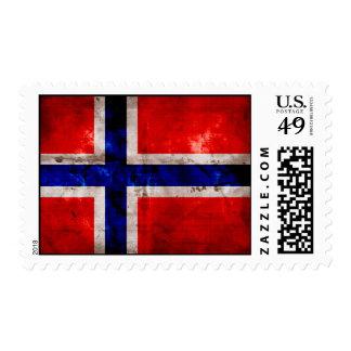 Norwegian Flag Postage Stamp