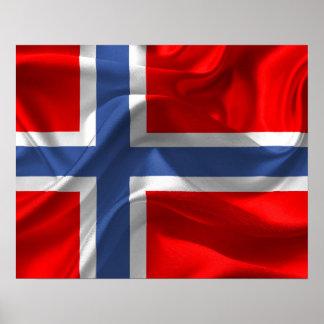Norwegian flag poster