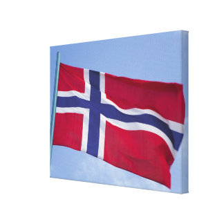 Norwegian flag RF) Canvas Print