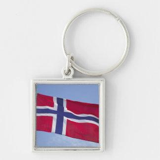 Norwegian flag RF) Keychain