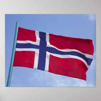 Norwegian flag RF) Poster