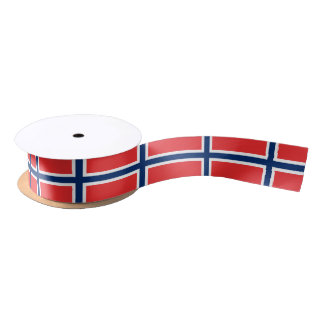 Norwegian flag  ribbon satin ribbon