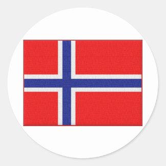 """""""Norwegian Flag"""" Round Sticker"""