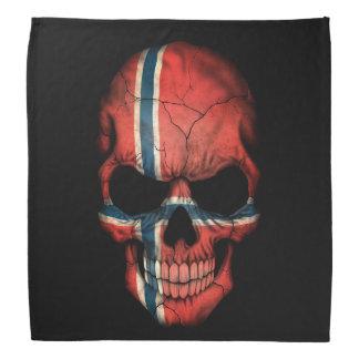Norwegian Flag Skull on Black Bandana