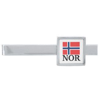 Norwegian flag tie clip | NOR Norway pride symbol