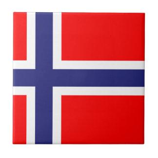 Norwegian flag tile