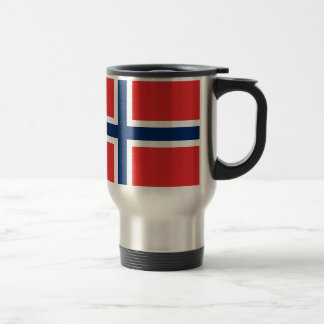 Norwegian flag travel mug