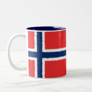 Norwegian Flag Two-Tone Coffee Mug