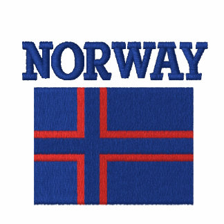Norwegian Flag With Custom Name on Back Embroidered Hoody