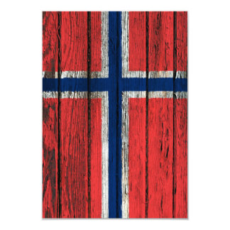 Norwegian Flag with Rough Wood Grain Effect Announcements