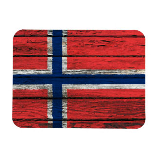 Norwegian Flag with Rough Wood Grain Effect Flexible Magnets