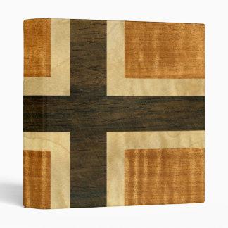 Norwegian Flag Wood Norsk Flagg - kongeriket Norge Vinyl Binder