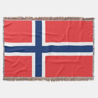 Norwegian flag woven throw blanket | Norway pride