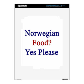 Norwegian Food Yes Please Skins For iPad 3
