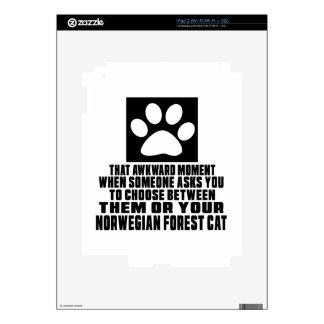 NORWEGIAN FOREST CAT AWKWARD DESIGNS SKIN FOR iPad 2