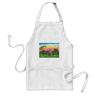 Norwegian Forest Cat - Bright Country Adult Apron