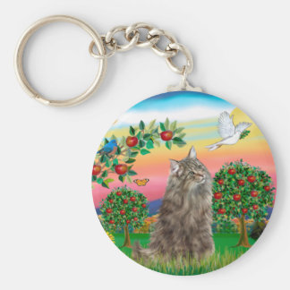 Norwegian Forest Cat - Bright Country Keychain