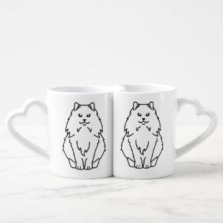 Norwegian Forest Cat Cartoon Couples Coffee Mug