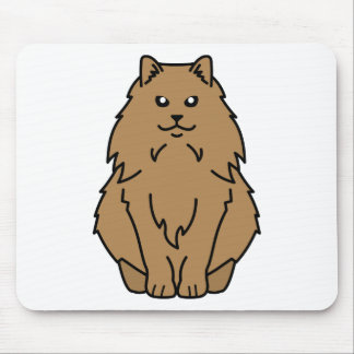 Norwegian Forest Cat Cartoon Mouse Pad