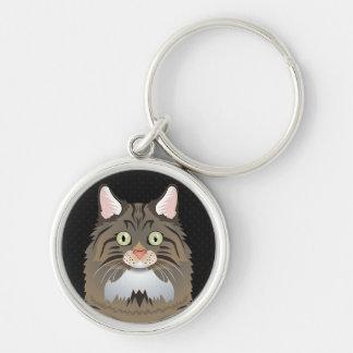 Norwegian Forest Cat Cartoon Paws Keychain