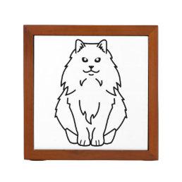 Norwegian Forest Cat Cartoon Pencil Holder