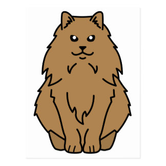 Norwegian Forest Cat Cartoon Postcard