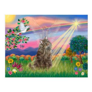 Norwegian Forest Cat - Cloud Angel Postcard