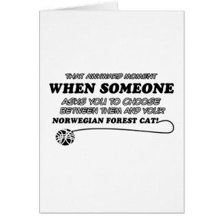 Norwegian Forest Cat designs Card