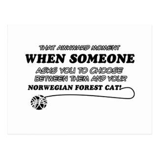 Norwegian Forest Cat designs Postcard