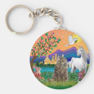 Norwegian Forest Cat - Fantasy Land Key Chain