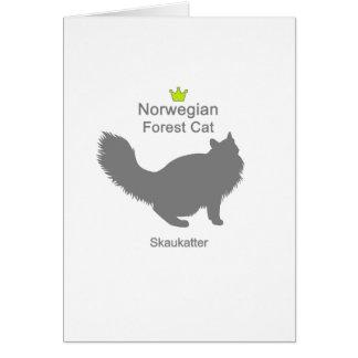Norwegian Forest Cat g5 Card