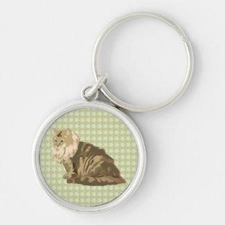 Norwegian forest cat key chain