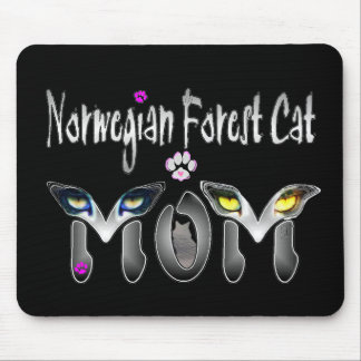 Norwegian Forest Cat Mom Gifts Mouse Pad