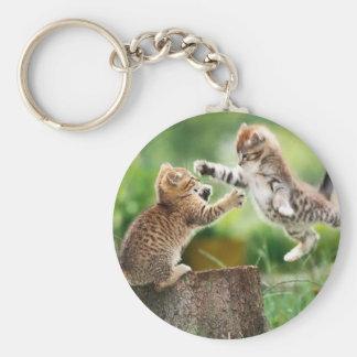 Norwegian Forest kittens Key Chains