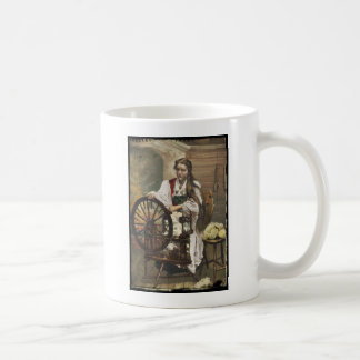 Norwegian Girl at a Spinning Wheel Coffee Mug