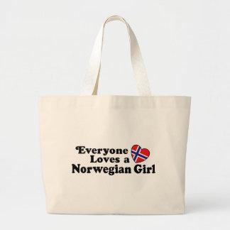 Norwegian Girl Large Tote Bag