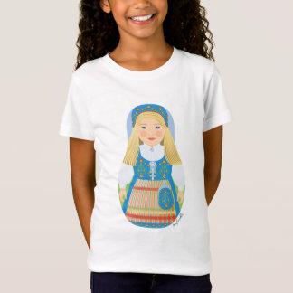 Norwegian Girl Matryoshka Girls Baby Doll (Fitted) T-Shirt