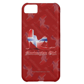 Norwegian Girl Silhouette Flag Case For iPhone 5C