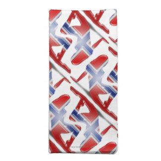 Norwegian Girl Silhouette Flag Cloth Napkin