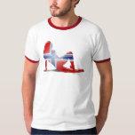 Norwegian Girl Silhouette Flag T Shirt