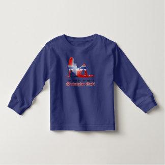 Norwegian Girl Silhouette Flag Toddler T-shirt