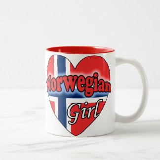 Norwegian Girl Two-Tone Coffee Mug