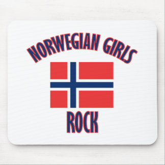 Norwegian girls DESIGNS Mouse Pad
