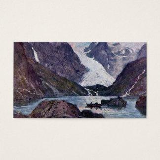 Norwegian glacier business card