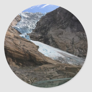 Norwegian Glacier Classic Round Sticker