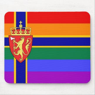 Norwegian GLBT Pride Flag Mouse Pad
