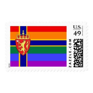 Norwegian GLBT Pride Flag Postage Stamp