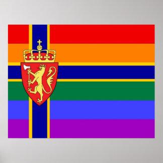 Norwegian GLBT Pride Flag Print