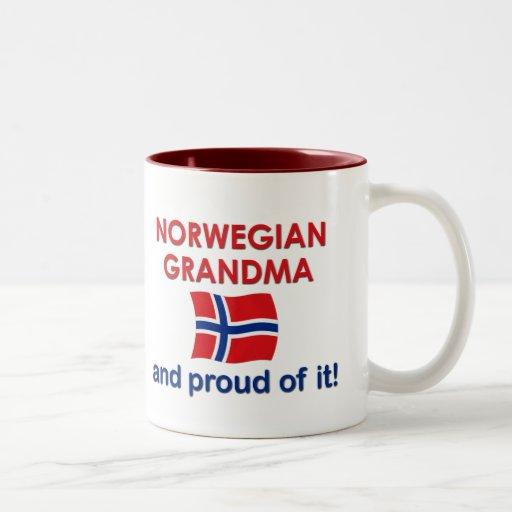 Norwegian Grandma-Proud of it Two-Tone Coffee Mug